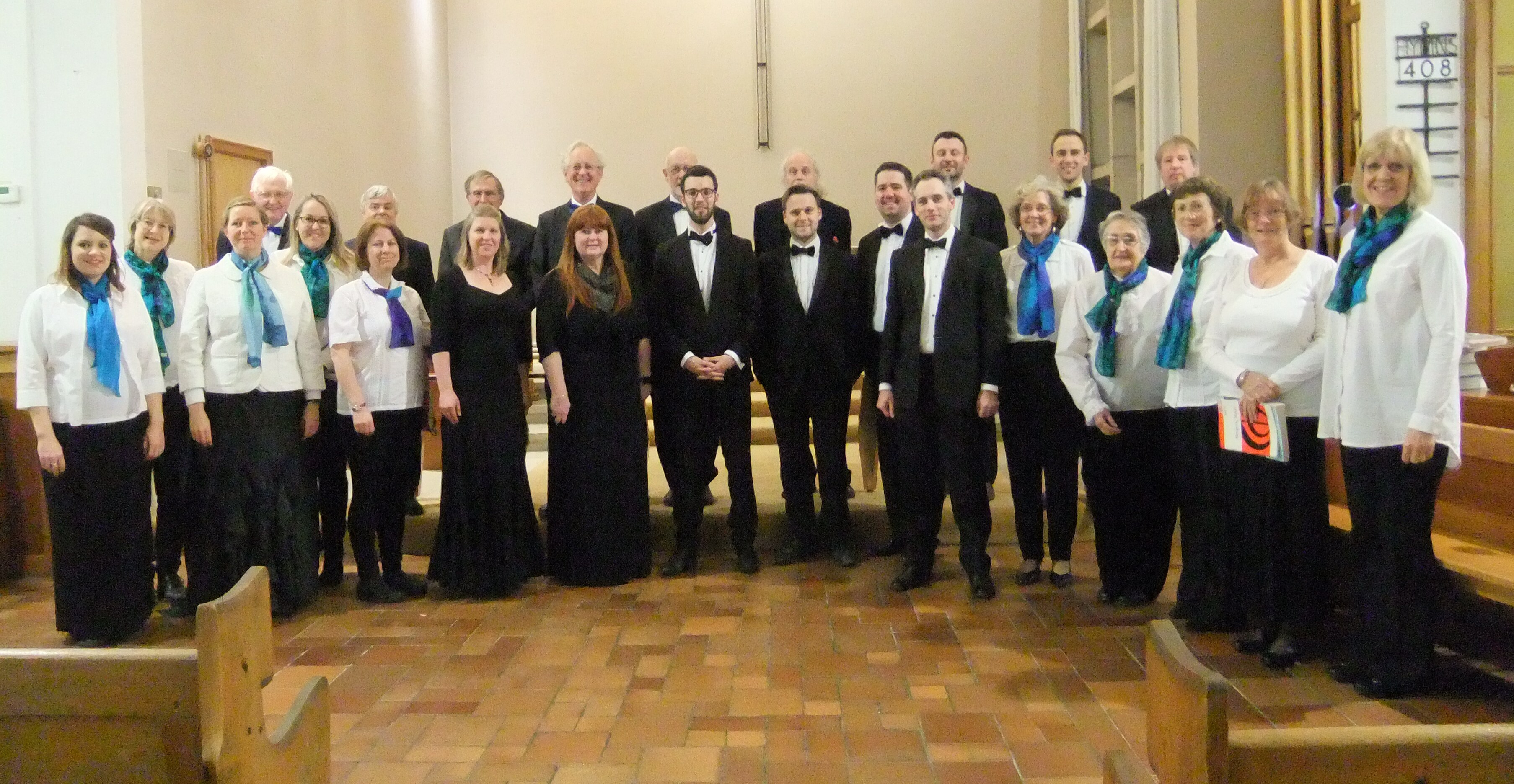 The Crown Singers combined with Musica Beata and organist Christopher Cromar for their concert in St John's Church, Grove on 26 November 2016