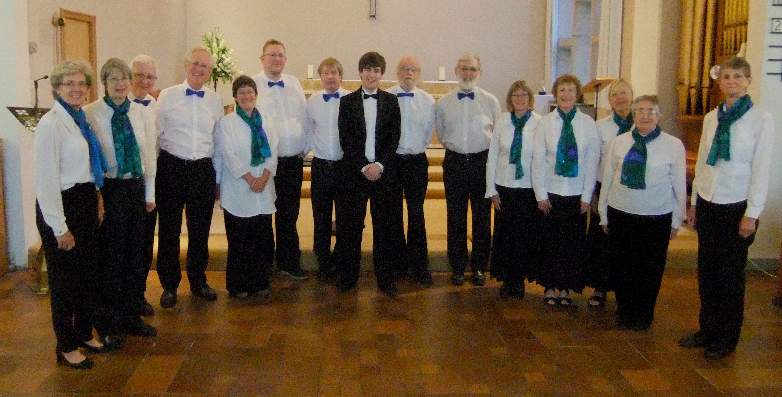 The Crown Singers with Paul Burke after their June 2014 concert.