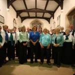 The Crown Singers and ColQuattro at their joint concert in Baydon, June 2013