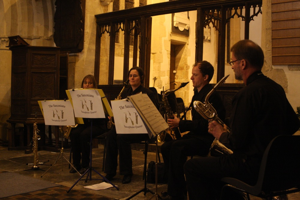 The Saxonians performing at the concert on 1st December 2012