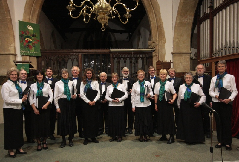 The Crown Singers after their joint concert with the Cherry Tree Players in Harwell in September 2011.