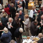 The Harwell audience enjoying interval nibbles during a concert in September 2011.