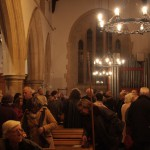 The audience wrap up warm for the December 2011 concert.