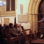 Professional storyteller Peter Hearn during the joint winter concert with the Crown Singers in 2011.