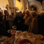 The audience (and singers!) enjoy the interval refreshments.